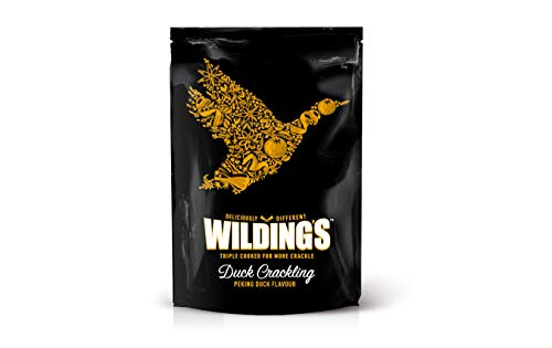 Wilding's Duck Crackling - Peking | Low Carb | Gluten Free | Keto & Paleo Snacks (12 x 25g)
