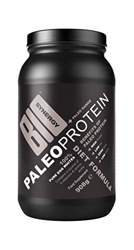 Bio-Synergy- Paleo Protein - Pure Egg White- All Natural- 84% Protein- Free Range Eggs- Muscle Repair- 908g