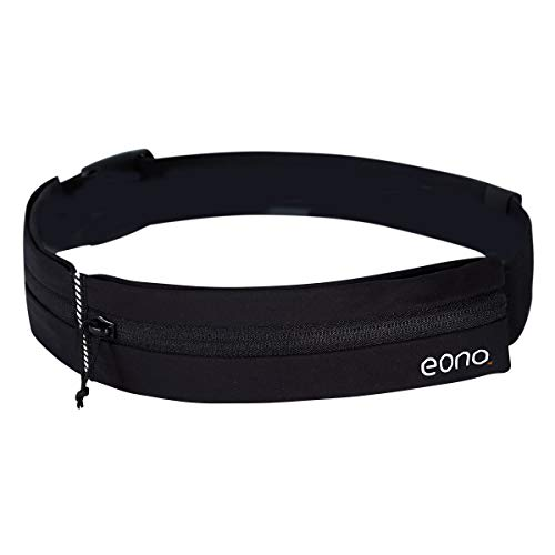 Eono by Amazon - Water Resistant Running Waist Pack with Adjustable Elastic Strap, Large Capacity Running Belt for Workouts, Exercise, Cycling, Walking, Travel & Outdoor Activities