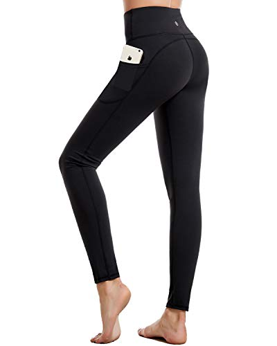 CAMBIVO Gym Leggings Women, Yoga Pants with Pockets, High Waist Tummy Control Sports Workout Running Tights
