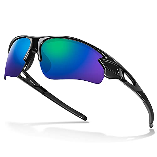 Polarized Sports Sunglasses for Men Women Youth Baseball Cycling Fishing Running TAC Glasses