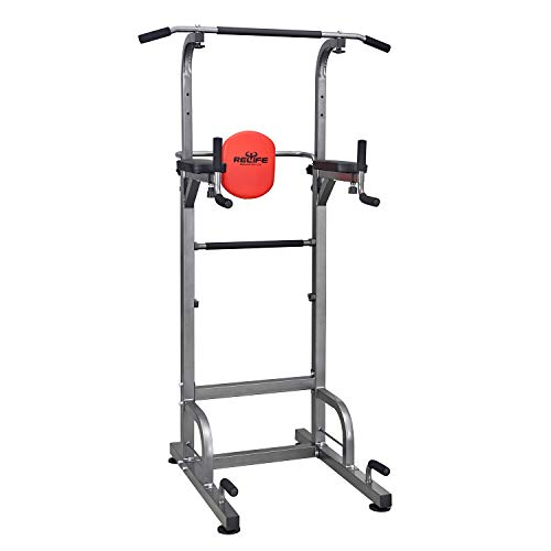 RELIFE REBUILD YOUR LIFE Exercise Power Tower Dip Pull Up Chin Station Stands Free Standing Bar strength training equipment