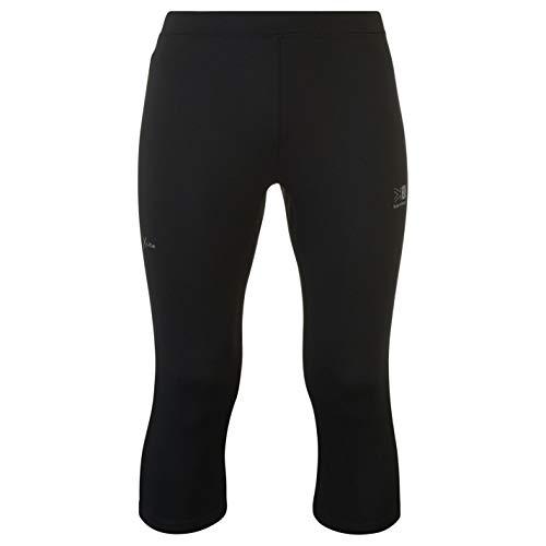 Karrimor Mens X Lite Running Capris Breathable Zip Mesh Stretch Drawstring Black S