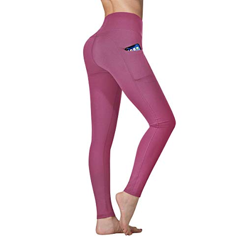 Vimbloom Yoga Pants with Pockets Sports Running Tummy Control Workout Running Leggings with Pockets for Women VI263