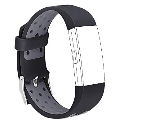 STAY Active Replacement Strap For Fitbit Charge 2 - Sports Style with Standard Buckle