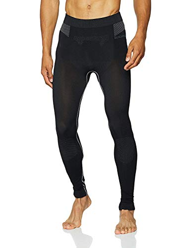 Men's Running and Training Tights Compression Technology Made In Italy by Sundried, Black, S