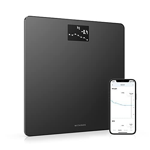 Withings Body - Wi-Fi Smart Scale Tracks BMI, Digital Weight Bathroom Scale, App Sync Via Bluetooth or Wi-Fi