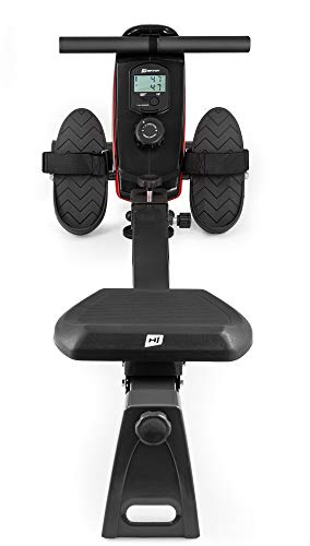 Hop-Sport Home Rowing Machine HS-030R Boost | Magnetic Braking System | Computer | Adjustable Resistance | Fitness | Cardio Workout | RED