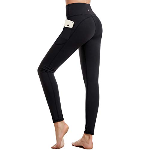 CAMBIVO Yoga Pants for Women, Workout Leggings with Pockets, High Waisted Gym Leggings Women Sports Running Tights