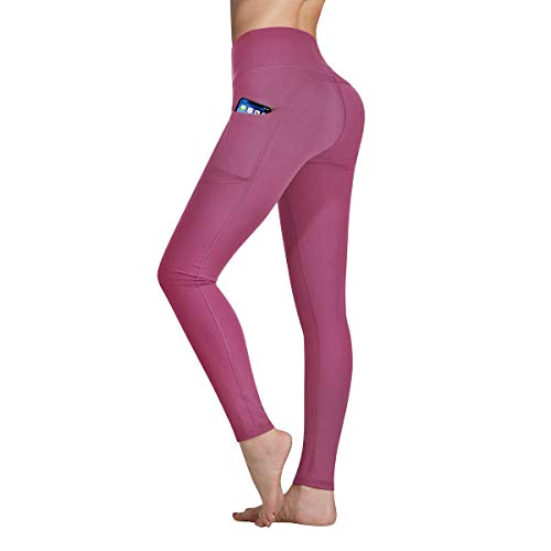 Occffy Yoga Pants with Pockets, Tummy Control, Workout Running Leggings with Pockets for Women DS166