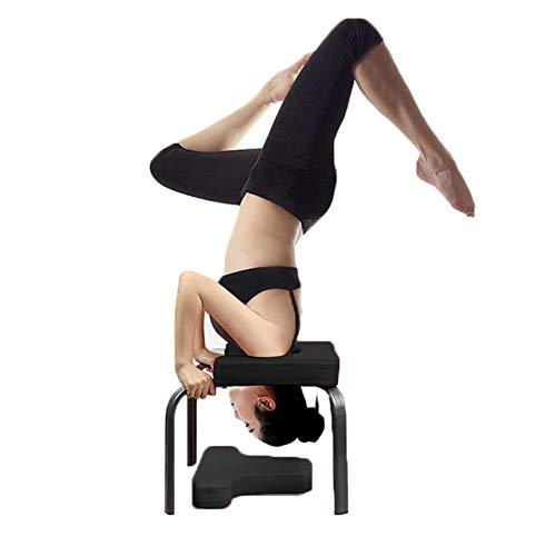 Wateralone Yoga Headstand Bench Yoga Aids Workout Chair Multifunctional Sports Exercise Bench, for Family, Gym - steel pipe and PU Pads, Fitness Equipment- Relieve Fatigue and Build Up Body (Black)