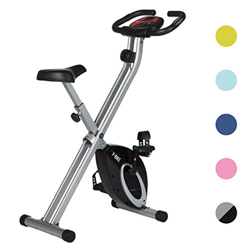 Ultrasport F-Bike and F-Rider, Fitness Bike Trainer, Sporting Equipment, Ideal Cardio Trainer, Foldable Indoor Trainer for Home use, LCD Display, Different Resistance Levels, Suitable for Everyone