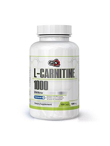 Pure Nutrition USA L-CARNITINE 1000 Pure L Carnitine 1000mg Capsules (100 Caps)