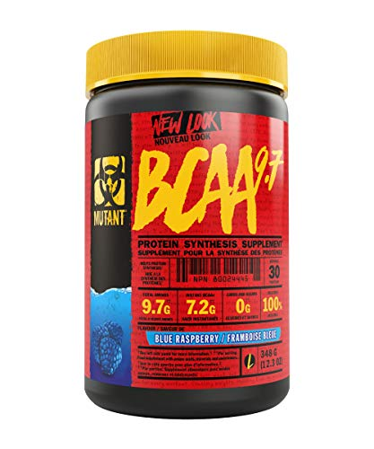 MUTANT BCAA 9.7 Supplement BCAA Powder with Micronized Amino Acid and Electrolyte Support Stack, 348g (.77 lb) - Blue Raspberry