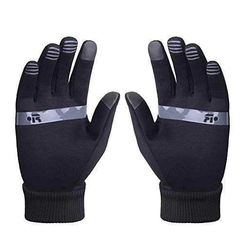 Sailinna Touch Screen Gloves with Reflective Strips Outdoor Winter Cold Weather Fits Men Women Running Warm Gloves