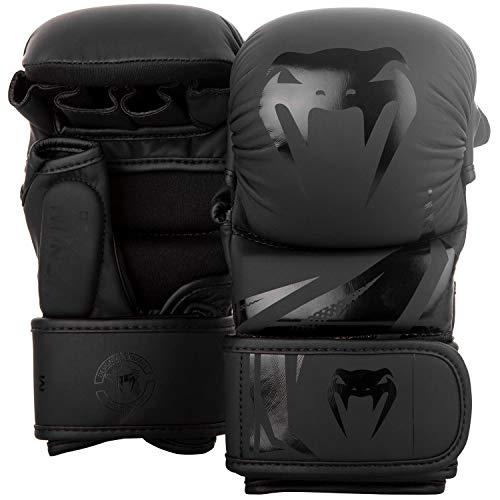 Venum Unisex's Challenger 3.0 MMA Sparring Gloves, Black/Black, X-Large
