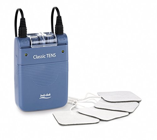 Classic TENS Machine - Dual Channel TENS Unit – for Fast Effective Pain Relief by Body Clock – For All Types Of Chronic & Acute Pain Rehabilitation – full kit