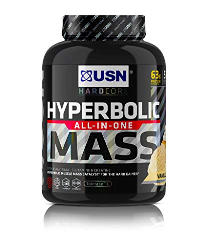 USN Hyperbolic Mass Vanilla 2 kg: All-In-One Mass Gainer Protein Powder, For Fast and Effective Weight Gain
