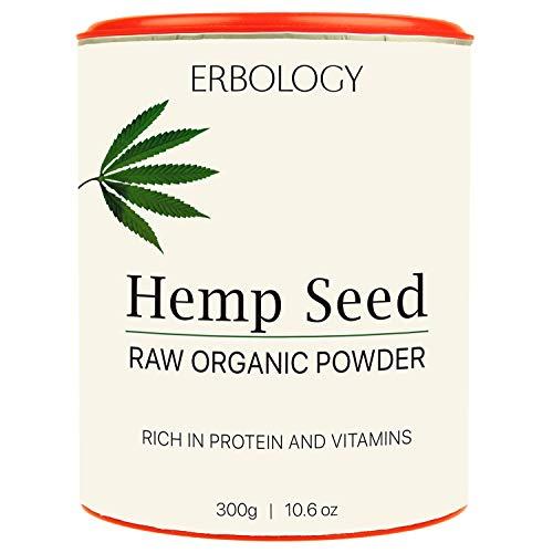 Organic Hemp Protein Powder 300g - Rich in Vitamin D and Minerals - Raw - Gluten-Free