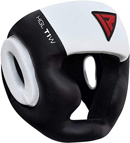 RDX Headguard for Boxing, MMA Training and Kickboxing, Approved by SATRA, Cowhide Leather Head Guard for Face, Cheeks, Ear Protection, Headgear for Sparring, Muay Thai, Taekwondo and Karate Helmet