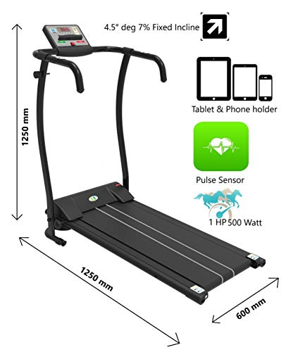 Fit4home Treadmills for Home foldable JK08E Electric Motorised Cardio Exercise Workout Running Walking Machine