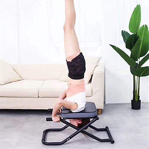 LeKing Headstand Stool Yoga, Yoga Inverted Chair Multifunctional Stool Yoga Aids Workout Chair Inversion Trainer Yoga Sports Exercise Bench Fitness Equipment