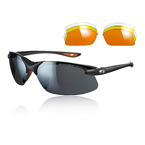Sunwise Windrush Sports Sunglasses for Men, Suitable for Sporting Activities & Leasure Purposes, Water & Impact Resistant Men's Sunglasses with Wrap Around Lense, One Size - Black
