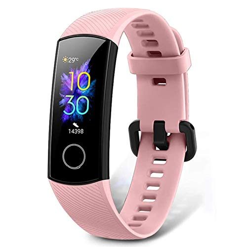 HONOR Band 5 Fitness Trackers, Activity Trackers Health Exercise Watch with Heart Rate and Sleep Monitor, Smart Band Calorie Counter, Step Counter, Pedometer Walking for Men Women and Kids Pink
