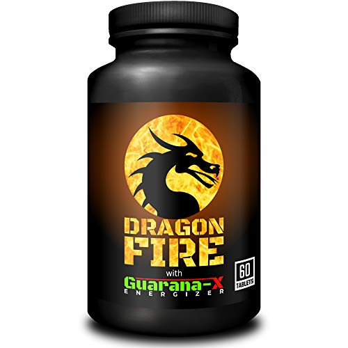 Dragon Fire with Guarana-X Energizer | Fat Burner & Energy Booster | Weight Loss & Slimming Supplement for Men & Women | 60 Tablets