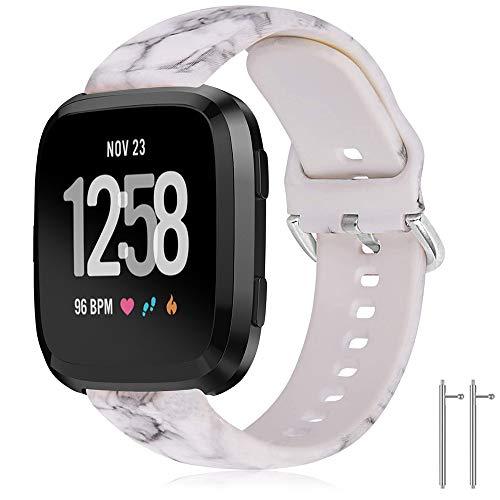 TOPsic Fitbit Versa 2/Fitbit Versa/Fitbit Versa Lite, 22 mm Silicone Versa Wristbands, Replacement Adjustable Sports Accessory Bracelet for Fitbit Versa/Versa 2/Versa Lite