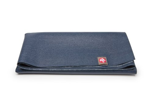 Manduka Unisex's eKo Superlite and Pilates Yoga Travel Mat, Midnight, 71-Inch