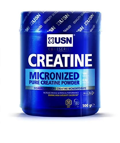 USN Micronized Creatine Monohydrate Powder 500 g: Improve Your Performance With Unflavoured Creatine, Energy Boosting Pre train and Post Workout Recovery Powder