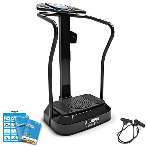 Bluefin Fitness Pro Vibration Plate | High Frequency Home Gym Experience | Full Fitness Console | 360 HIP ROTATION | Silent Motors | Aux Speakers | UK Design | Boost Fat Loss & Toning FAST