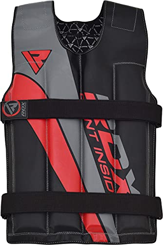 RDX Weighted Vest 18KG Adjustable Running Training Weight Loss Jacket Workout Jogging Walking Boxing Training Waistcoat Strength Training, home gym Equipment for Men Women