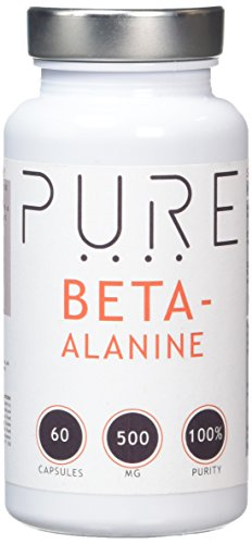 Bodybuilding Warehouse Pure Beta Alanine Supplement Capsules 500mg (60 Caps) - Helps Exercise Performance & Endurance