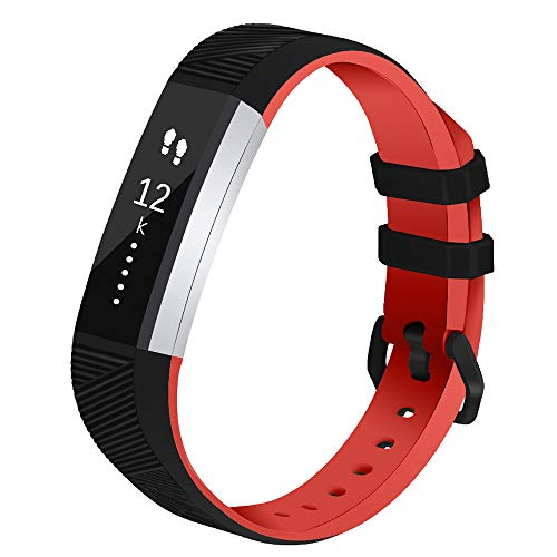 Vozehui Replacement Straps Compatible For Fitbit Alta/Alta HR, Adjustable Sport Smartwatch Fitness Wristband with Soft Silicone for Women Men