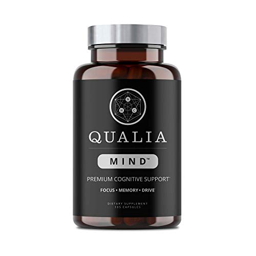 Qualia Mind Nootropic | Premium Brain Booster Supplement for Memory, Focus, Clarity and Concentration Support with Bacopa monnieri, Ginkgo biloba, Celastrus, DHA, Alpha GPC, B12 & More