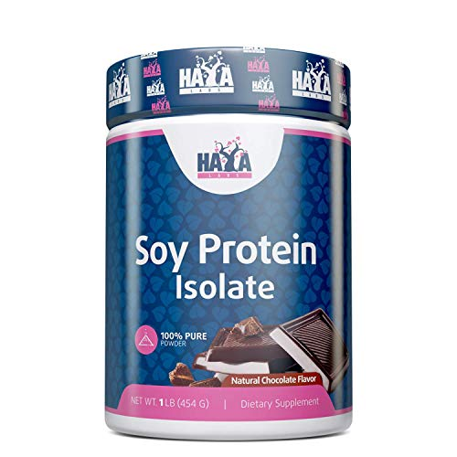 Haya Labs 100% Soy Protein Isolate Non GMO 454g Chocolate