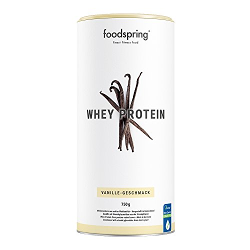 foodspring Whey Protein Powder, Vanilla, 750g, Powdered Formula with a high Protein Content for Stronger Muscles, Made from Premium Grass-fed Milk