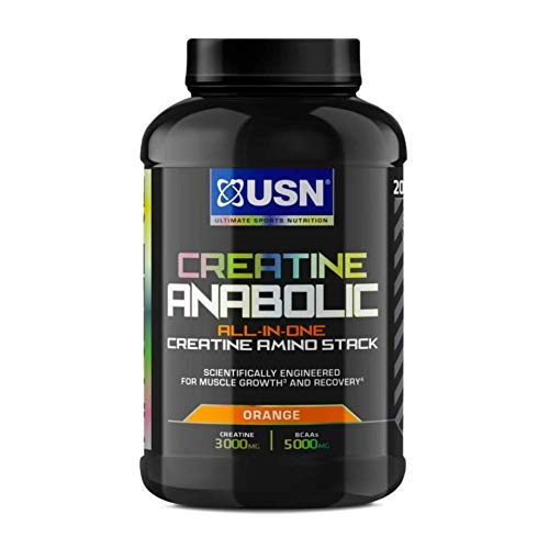 USN Creatine Anabolic all in One Creatine Amino Muscle Building Stack, Orange, 900g