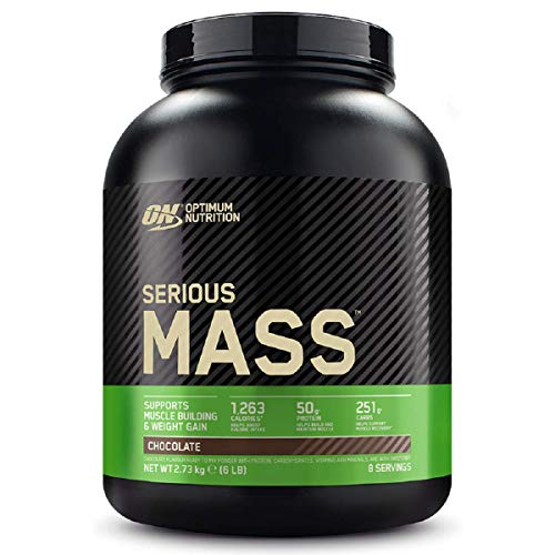Optimum Nutrition Serious Mass Protein Powder High Calorie Mass Gainer with Vitamins, Creatine and Glutamine, Chocolate, 8 Servings, 2.73 kg, Packaging May Vary