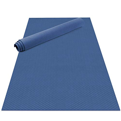 Odoland Large Yoga Mat, Thick Non Slip Eco Friendly Exercise Mat with Carry Strap, 183 x 121x 0.6CM Workout Mat for Pilates Yoga Stretching Gymnastics at Home or Gym