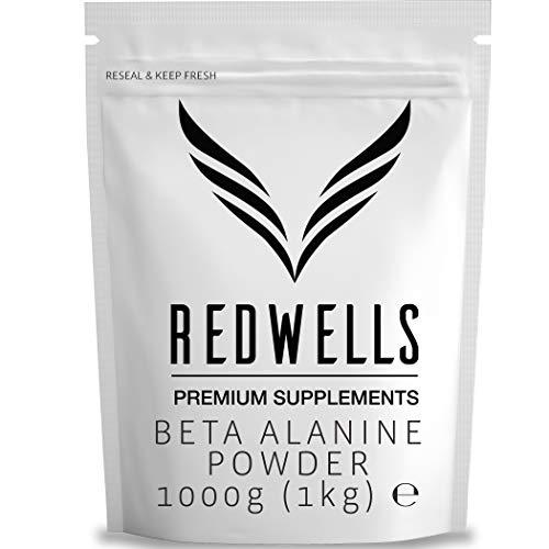 Beta Alanine Powder REDWELLS Premium Quality No Additives Amino Acid - 1kg Pack