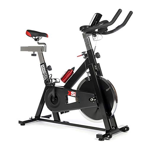 XS Sports SB500 Aerobic Indoor Training Exercise Bike-Fitness Cardio Home Cycling Racing-15kg Flywheel with PC + Pulse Sensors