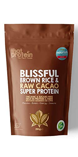"""That Protein's Award Winning Blissful Brown Rice and Raw Cacao Organic Super Protein - Voted """"Best Protein"""" at the 2019 Nourish Awards"""