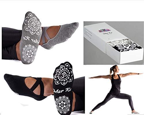 PRO Yoga Socks. SUPER SOFT COTTON. DOUBLE Non-Slip Grip, Elastic Straps, Fine Edges. BEST Anti Skid Boat Socks in GIFT BOX. Packed without plastic. Pilates socks. Barre.