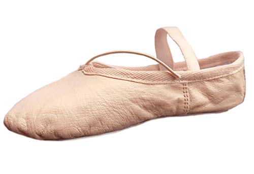 Ballet Canvas Dance Shoes Gymnastic Yoga Shoes Flat Full Sole Leather Ballerina Girls Ladies Children's and Adult's Sizes