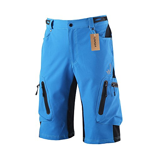 Lixada Men's Bicycle Shorts ,Breathable Mountain Bike Shorts Lightweight and Baggy MTB Shorts for Outdoor Cycling Running Gym Training