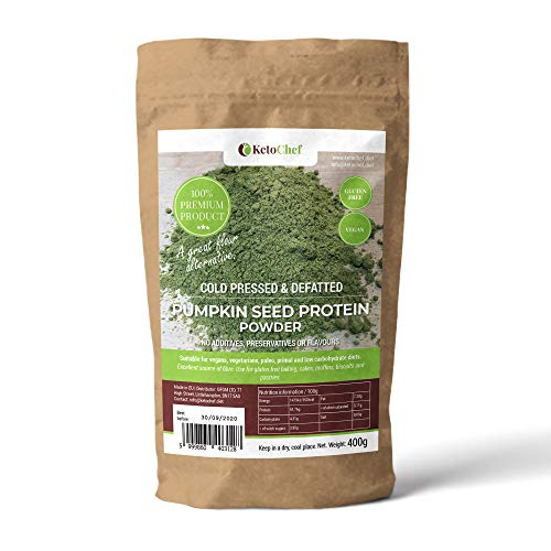Cold Pressed Defatted Pumpkin Seed Protein Powder - LowCarb (4,31g/100g) - Suitable for Vegans, Vegetarians, Paleo, Keto and Low Carbohydrate Diets
