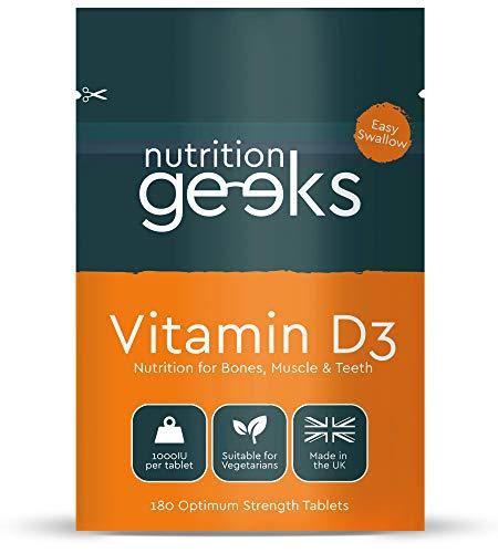 Vitamin D 1000iu - 180 Easy-Swallow Vitamin D Tablets, 6 Months Supply - Vegetarian Vitamin D3 1000iu, High Strength Immune Support Vitamin D Supplement - UK Highest Grade Certified VIT D